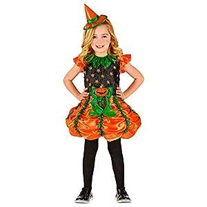 WIDMANN-Strega - Disfraz de calabaza para niños, multicolor, (116 cm/4 - 5 años), 01855