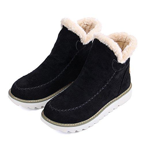 JOYORUN Boots Schneestiefel Damen Outdoor Winterschuhe Warm Gefütterte Schwarz