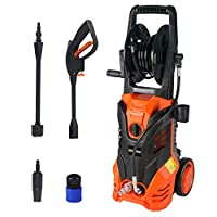 High Pressure Washer 2000W Corded Electric Washer Garden Cleaning Machine with 6Pcs Accessories