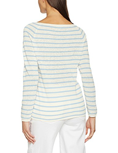 SELECTED FEMME Damen Langarmshirt Sfnive Stripe LS Knit Pullover NOOS Mehrfarbig (Skyway Stripes:Natural Base)