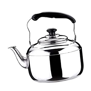 Whistle Tea Pot -Outdoor Water /& Camping Teapot Rust Resistant Stainless Steel Gas Electric Induction Stovetop Kettle 4L Silver MagiDeal Premium Whistling Tea Kettle
