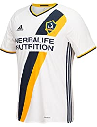 Los Angeles Galaxy Adidas MLS Climalite On-Field Replica S/S Jersey Maillot - White