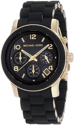 MICHAEL KORS MK5191 de cuarzo para mujer con correa de acero inoxidable, color negro