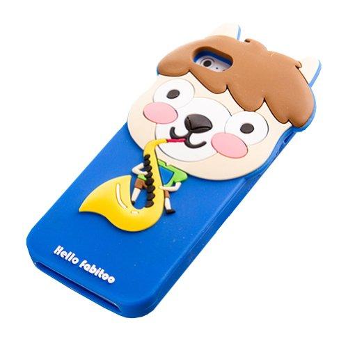 & Apple iPhone 5 5s Coque de protection en Silicone pour Saxophone Alpaca's (Bleu)