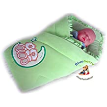 BlueberryShop Bordado Velour Manta para Envolver al Recién Nacido Sábana Bajera Saco de Dormir Regalo Algodón