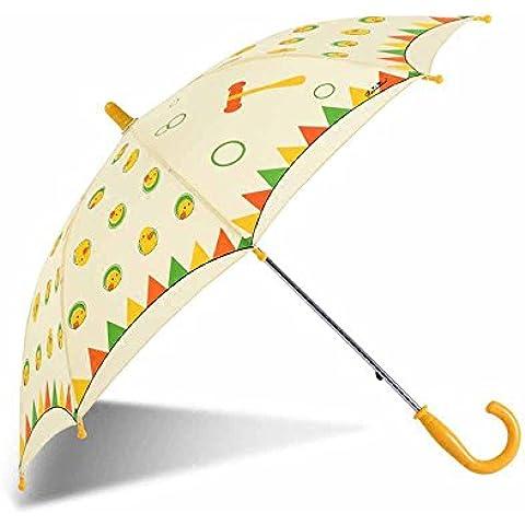 ssby Bambini maschio e femmina Cartoon sole manualmente pulire un ombrello, pioggia o a duplice uso ombrello protezione UV ombrelli, Baby Love, C