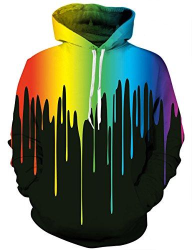 LAIDIPAS Unisex 3D bedrucktes Kapuzenpulli Lässige Paar Pullover Hoodie Große Taschen XXL Große Pullover Für Teens