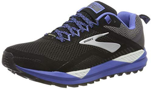 Brooks Cascadia 14 GTX, Zapatillas de Running para Mujer, Negro (Black/Grey/Blue 053), 39 EU