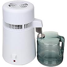 Euroeshop 4L Filtro Purificador Destilador de Agua de Acero Inoxidable para Cocina Oficina Interior de Acero