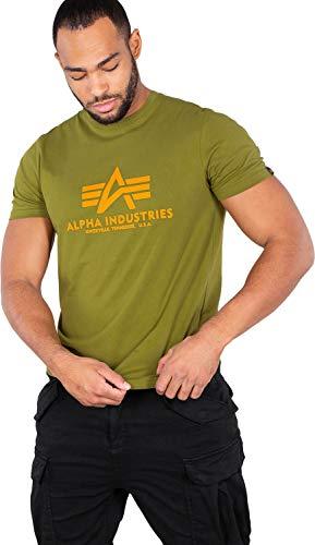 Alpha Industries Basic T-Shirt Grün/Orange M