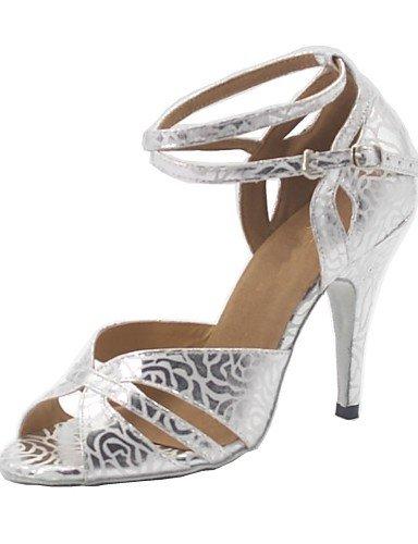 Sandales femme mode moderne personnalisé d'argent Chaussures de danse de bal en similicuir US9/EU40/UK7/CN41