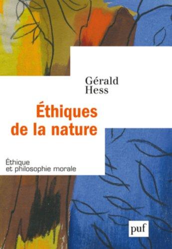 Ethiques de la nature par Gérald Hess