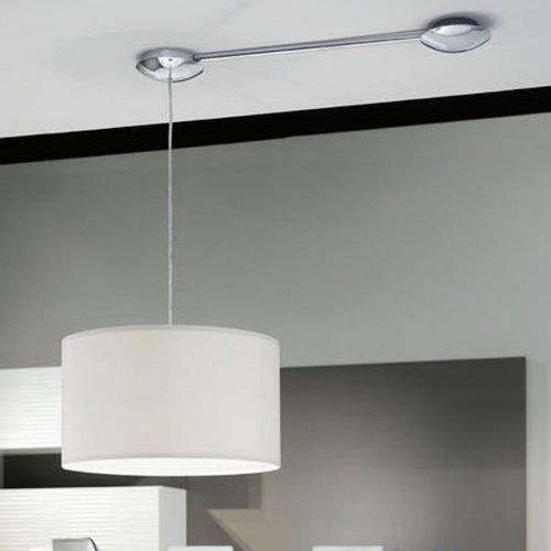 LICHT-TREND Verhängedose + Kabelkanal / max. 157cm / Nickel-matt