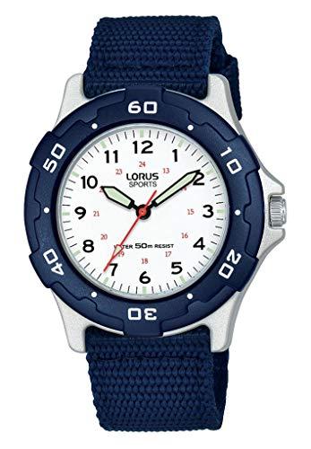 Lorus Jungen Analog Quarz Uhr mit Nylon Armband RRX93FX9
