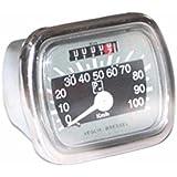 Enfield County Bressel Piaggio Vespa Logo 100km/h gris negro velocímetro Speedo VN VM Acma 150