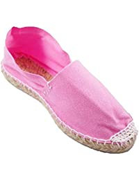 Alpargatas de esparto plana Made in Spain en rosa