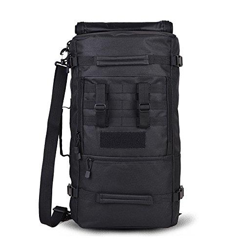 Yinggg tela zaino da uomo casual Daypacks borsa da viaggio per escursionismo/campeggio/all' aperto Black