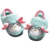 BESTOYARD Zapatillas de Invierno Suaves y Lindas Antideslizantes Zapatos de Invierno para niños pequeños (Verde)