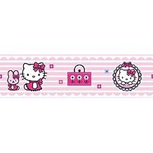 Graham & Brown - Cenefa infantil (polipropileno), diseño de Hello Kitty