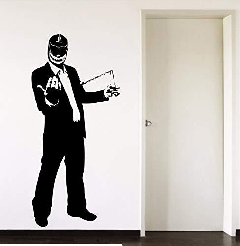 Für Einen Kerl Kostüm - Mexikanische Wrestler Cap Hübscher Kerl Kostüm Vinyl Wandkunst Aufkleber Kinder Teenager Schlafzimmer Wohnzimmer Haus Deraction 57Cm X 122Cm