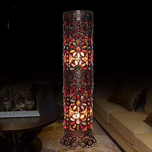 Barrel Lampe (9-Zoll böhmische Stehleuchte Wohnzimmer Gang dekorative Barrel Lampe Blütenblatt Lampe)