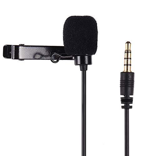 Docooler Lavaliermikrofon Omnidirektionale Klemme mit 1,2 m Kabellänge für Smartphone GoPro HERO3 / 3 Plus / 4 Action-Kamera für Canon-Kamera Sony