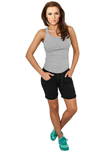 Ladies 5 Pocket Sweatshorts black XS (Jugendliche 5-pocket-jeans)
