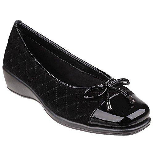 The Flexx Hugees - Chaussures en cuir à talon compensé - Femme Noir - noir