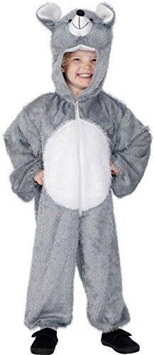 Smiffys Kinder Unisex Maus Kostüm, Jumpsuit mit Kapuze, Größe: M, (Ideen Süßes Kostüm Maus)