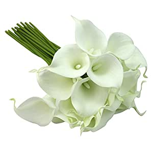 Buy y y star 24pcs bridal wedding bouquet head latex real for Artificial flowers for home decoration india