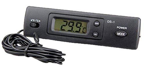 Fish Tank Uhr (F-eshion Neue externe Sonde innen und außen Auto Kühlschrank Aquarium Tank Digital LCD Thermometer)
