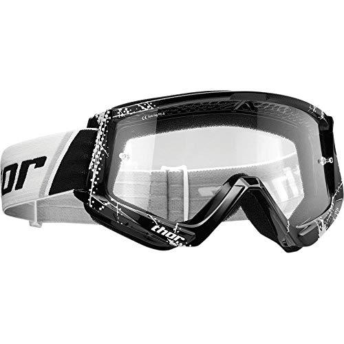 Thor Combat Web Motocross Kinder Brille Spring 2019 schwarz klare Scheibe