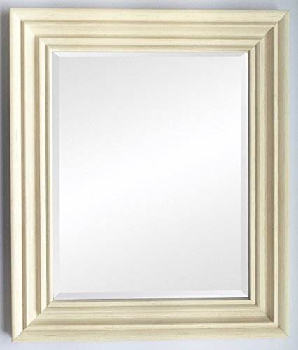 Frames by Post Spiegel, Plastik, Distressed White, BEV 30 x 20 inch