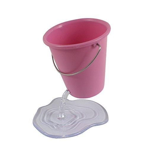 Zoohot - portapenne di design a forma di secchio sospeso, grazioso accessorio da scrivania rosa