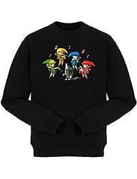 Pull Jeux Vidéo - Parodie de Link de la série Légende de Zelda - Solo Orchestra :) - Pull Noir - Haute Qualité (910)