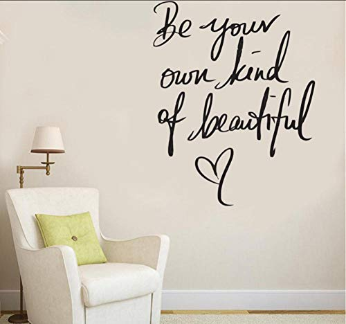 XOOYYY Beauty Nail Wall Decor Passion Aufkleber Vinyl Aufkleber Inspire Girls Be Beautiful Wandtattoos Schlafzimmer Badezimmer 42X53Cm