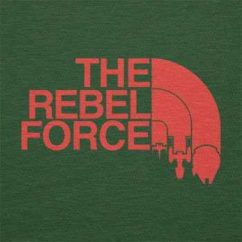 TEXLAB - The Rebel Force - Herren T-Shirt Flaschengrün