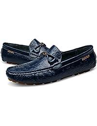 2d53b08396a Mocasines de cuero suave para hombres Zapatos de conducción ocasionales  Mocasines sin cordones A pie Zapatos