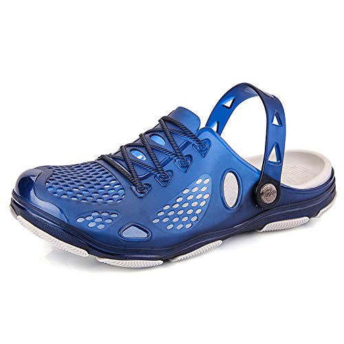 uomo zoccoli spiaggia giardinaggio gomma ospedale esterno pantofole estate sandali nero blu giallo 41-45 blu 45