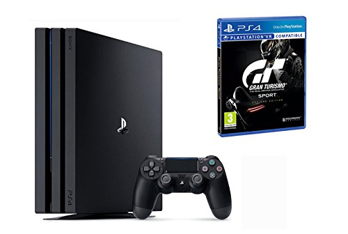 Pack PS4 Pro noire + Gran Turismo Sport - Edition Day One [Exclusivité Amazon]