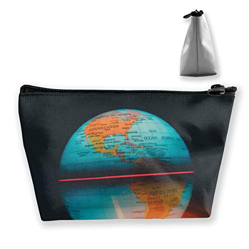 Glowing Globe On Table Women Cosmetic Bags Multifunktions-Kulturbeutel Organizer Travel Wash Lagerung (Trapez)