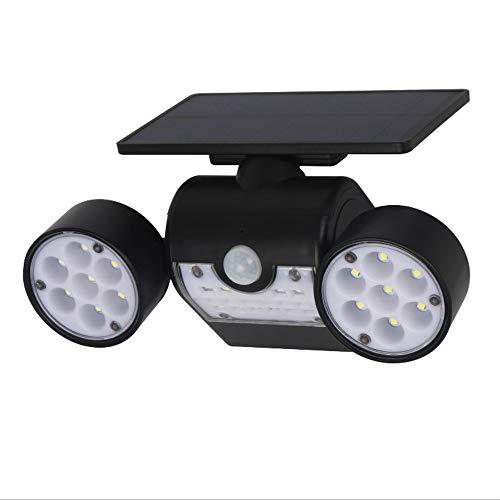 cht, Doppelkopf Strahler wasserdicht Infrarot Solar Sensor Flutlicht Sicherheitslicht ()