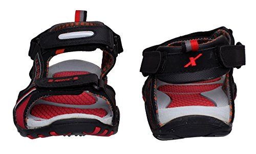 Sparx Men's Black and Red Athletic and Outdoor Sandals - 6 UK (SS0430G)