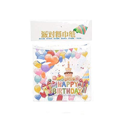 (Farbe Ballons Glückliche Geburtstagsfeier Einweggeschirr Kreatives Thema Party Hut Löffel Gabel Horn Frag Platte Kuchen Messer Tasse Maske, 10 Stücke Papier)