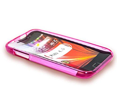 caseroxx TPU-Hülle für Wiko Cink Peax 2, Tasche (TPU-Hülle in pink)