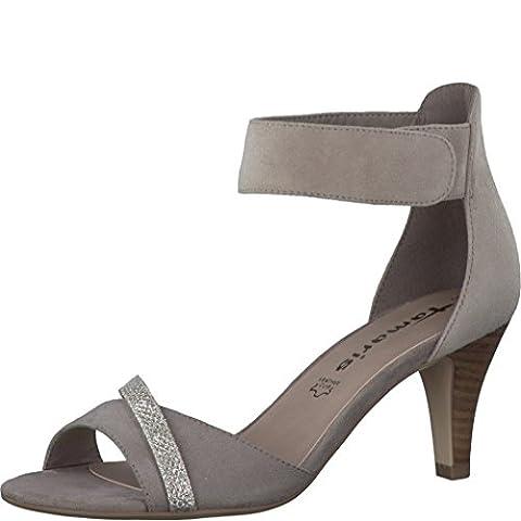 Tamaris Schuhe 1-1-28305-28 bequeme Damen Sandalette, Sandalen, Sommerschuhe für modebewusste Frau, braun (PEPPER/GLAM), EU