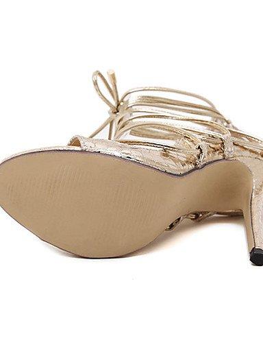 WSS 2016 Chaussures Femme-Décontracté-Noir / Argent / Or-Talon Aiguille-Talons-Talons-Polyuréthane golden-us7.5 / eu38 / uk5.5 / cn38