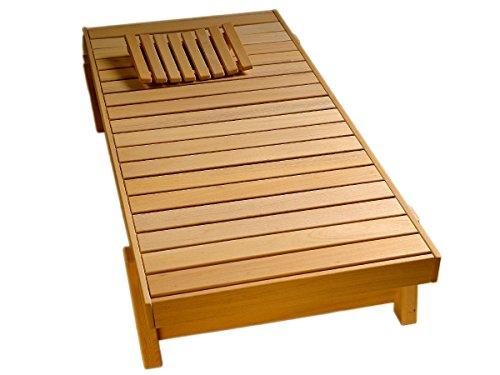 Saunaliege Relaxliege Saunabank Holzliege Massagebank Ruheliege Liege Bank