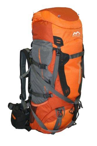 MONTIS Nadel 60+20 Trekking-Rucksack, Wander-Rucksack & Reise-Rucksack in Einem, ermöglicht Dank Regenschutz auch Kletter- & Campingtouren, im Militär-Rucksack Look mit viel Extras & Belüftungssystem