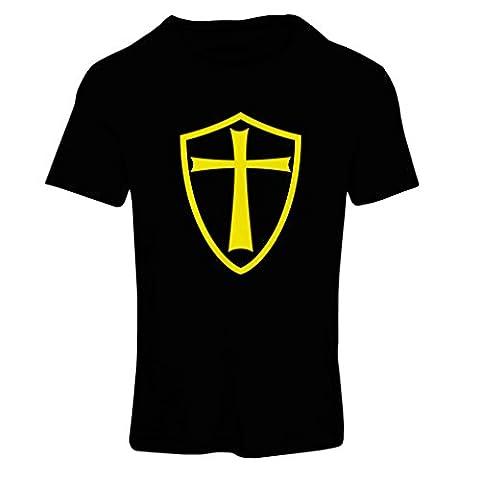 T-shirt femme Chevaliers Templiers - Chevalier des Templiers (X-Large Noir Jaune)